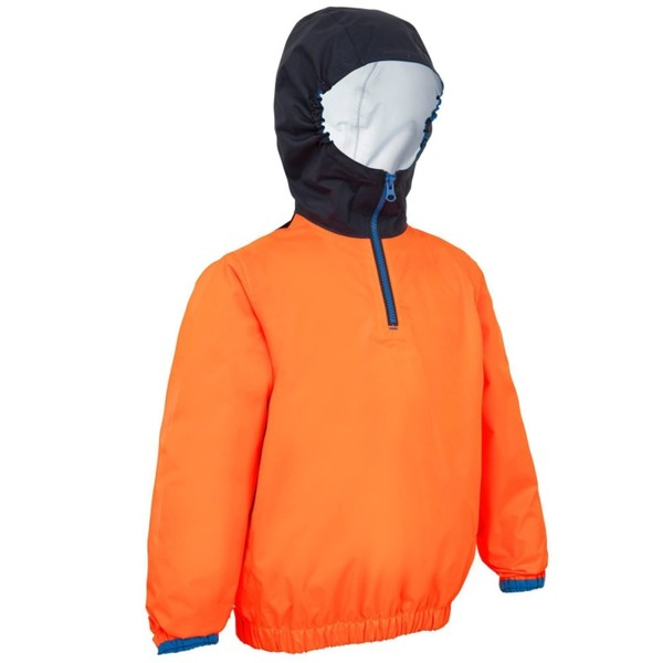 TRIBORD Segeljacke S 100 Jolle/Katamaran winddicht Kinder orange/blau, Größe: 6 J. - Gr. 116