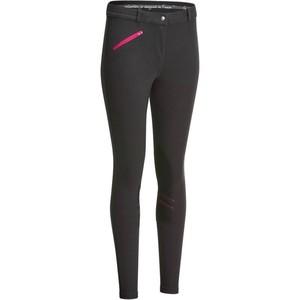 FOUGANZA Reithose Victoria Grip rutschfester Kniebesatz Damen karbongrau, Größe: 2XS