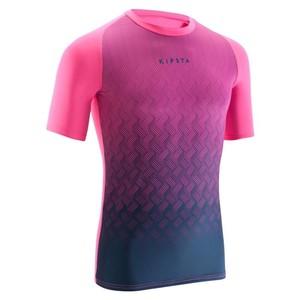 KIPSTA Funktionsshirt Keepdry 100 Erwachsene rosa/marineblau, Größe: M
