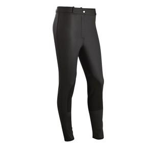FOUGANZA Thermo-Reithose Kipwarm wasserdicht warm Kniebesatz schwarz, Größe: 6 J. - Gr. 116