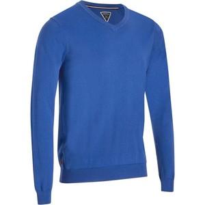 INESIS Pullover V-Ausschnitt Comfor´Tee Golf Pulli Herren petrolblau, Größe: S