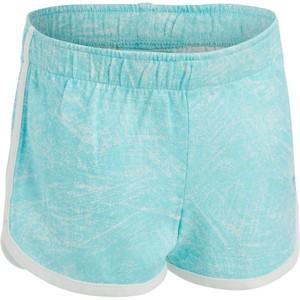 DOMYOS Sporthose kurz 500 Babyturnen blau/weiß mit Print , Größe: 18 M. - Gr. 80