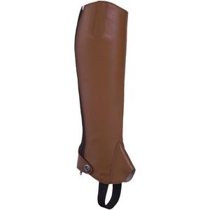 FOUGANZA Reit-Chaps Paddock 700 Erwachsene Leder camel, Größe: S/H 32CM
