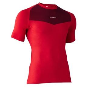KIPSTA Funktionsshirt kurzarm Keepdry 100 atmungsaktiv Kinder rot, Größe: 8 J. - Gr. 128