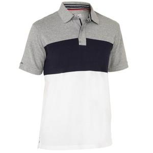 TRIBORD Segel-Poloshirt kurzarm Adventure 100 Bloc Herren blaugrau, Größe: S
