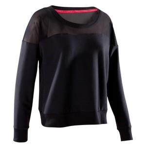 DOMYOS Tanz-Sweatshirt Damen schwarz, Größe: EU 34 DE 32