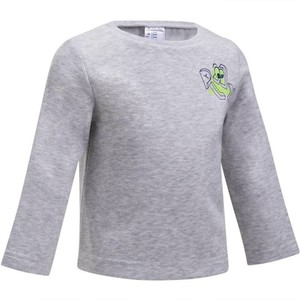 DOMYOS Sweatshirt 100 Baby grau mit Print, Größe: 12 M. - Gr. 74