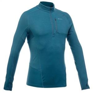 FORCLAZ Merinoshirt langarm Trek 900 Wool Herren blau, Größe: S