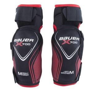 BAUER Eishockey-Ellbogenschoner Vapor X700 Kinder schwarz/rot, Größe: S