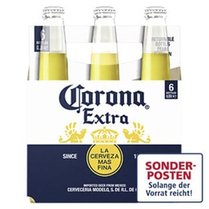 Corona Extra jede 6 x 0,355-Liter-Packung