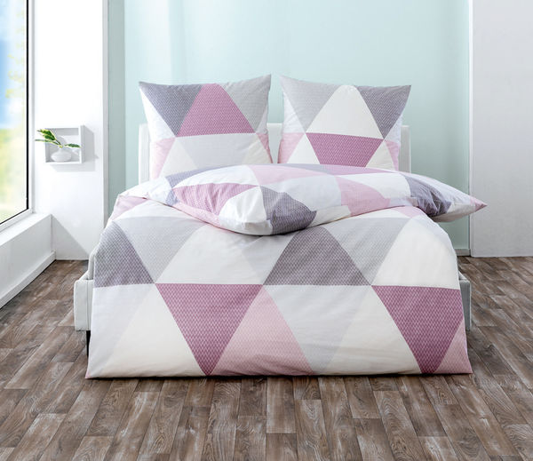 Dreamtex Renforce Bettwäsche 200 X 200 Cm Triangle Pastell Von