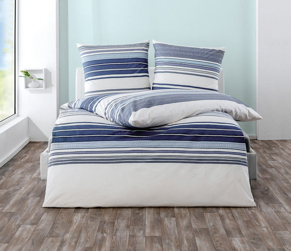 Dreamtex Renforce Bettwäsche 155 X 220 Cm Stripes Blue Von Norma