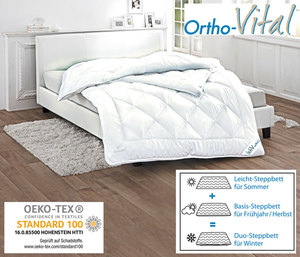 Ortho-Vital 4-Jahreszeiten Steppbett 155 x 220 cm
