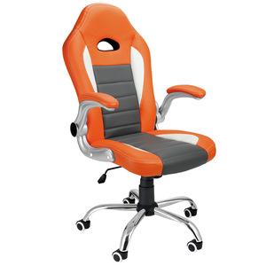 Deuba Bürostuhl Sportsitz grau/orange