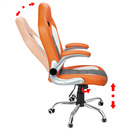 Bild 3 von Deuba Bürostuhl Sportsitz grau/orange