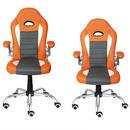 Bild 4 von Deuba Bürostuhl Sportsitz grau/orange