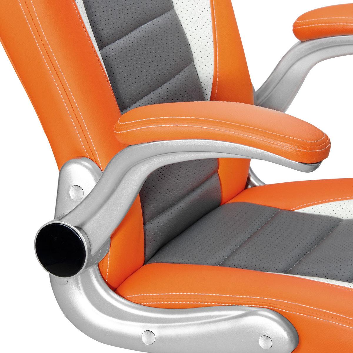 Bild 5 von Deuba Bürostuhl Sportsitz grau/orange