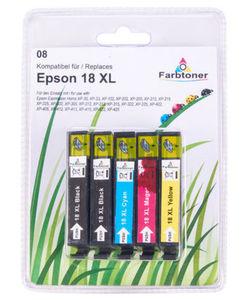 Tintenpatronen Epson 18 XL - Ersatzpatronen - 5-tlg. Set