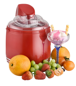 Kalorik 2 in 1 Retro-Eismaschine und Joghurtbereiter rot TKG ICE 2500 R