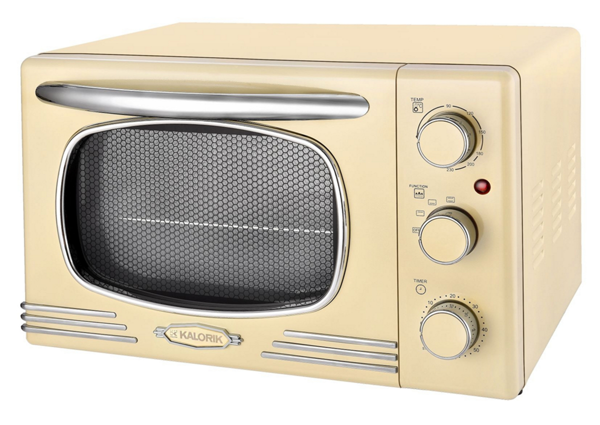 Bild 1 von Kalorik Retro-Multiofen 19,5 Liter Design-Miniofen TKG OT 2500 Tischbackofen creme-weiß