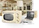 Bild 2 von Kalorik Retro-Multiofen 19,5 Liter Design-Miniofen TKG OT 2500 Tischbackofen creme-weiß