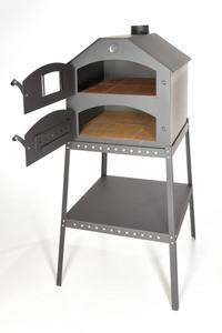 acerto® Profi Pizzaofen für den Garten - 64x63x68 cm mit Gestell