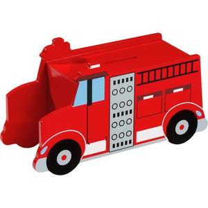 IDEENWELT Holzspardose Feuerwehr