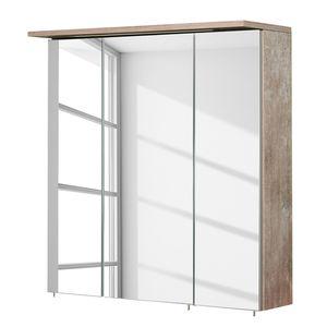 EEK A+, Spiegelschrank Milan (inkl. Beleuchtung) - Eiche Findus Dekor - 70 cm, Schildmeyer