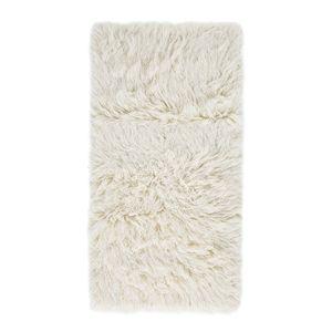 Teppich Flokati - Wolle - Weiß - 70 x 140 cm, andiamo