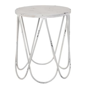 Beistelltisch Main - Metall - Vintage Weiß, Home Design