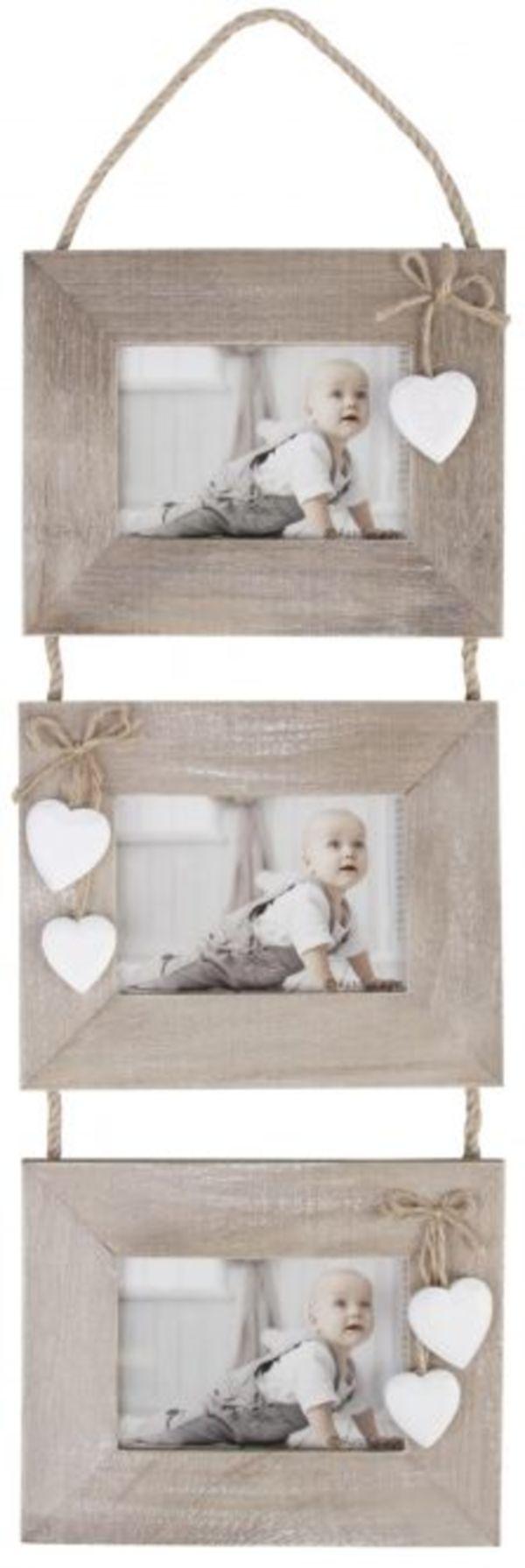 Hänge-Bilderrahmen für 3 Fotos à 15 x 10 cm - aus Holz - 20 x 2,5 x ...