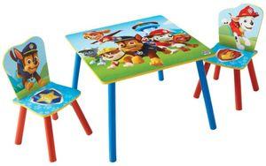 Holz Kinder-Sitzgruppe - Paw Patrol - blau - Tisch ca. 63 x 63 x 45 cm, Stühle ca. 29,5 x 29 x 52,5 cm
