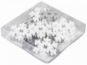 Streudeko - Schneeflocken - 24 Teile - weiß