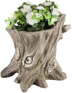 Pflanzgefäß - Baumstamm - aus Magnesia - 35 x 30 x 36,5 cm