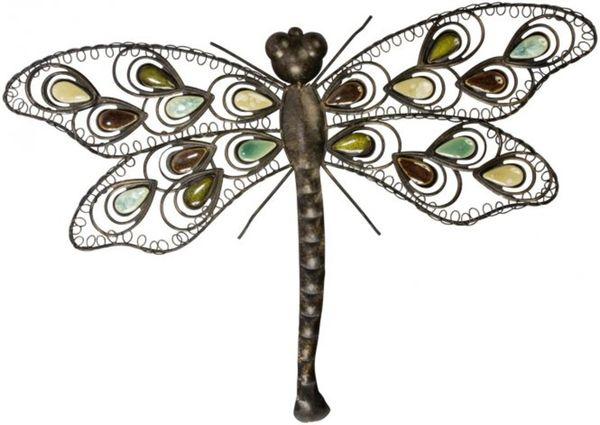 wanddeko libelle aus metall 58 x 4 x 41 cm