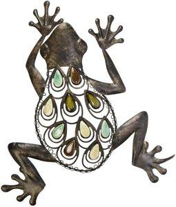 Wanddeko - Frosch - aus Metall - 36 x 5 x 47 cm