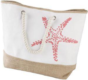 Strandtasche - Seestern - aus Textil - 52 x 14 x 38 cm