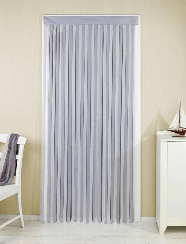 Türvorhang grau-weiß Wenko