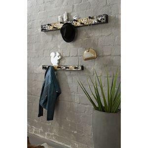 Garderobenleiste Soleto - Metall - Schwarz / Gold - 75 cm, Home Design