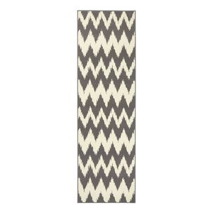 Läufer Fabric - Kunstfaser - Grau - 80 x 300 cm, Hanse Home Collection