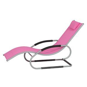 Sonnenliege Adria - Aluminium / Ranotex - Pink, Siena Garden