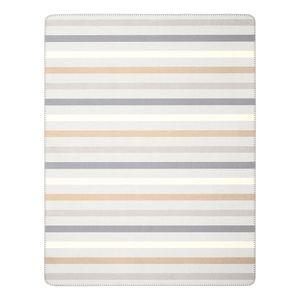 Plaid Pastels Nature - Webstoff - Beige / Grau, Biederlack