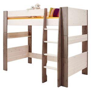 Hochbett Steens for Kids - Kiefer massiv - White Wash/Stone, Steens