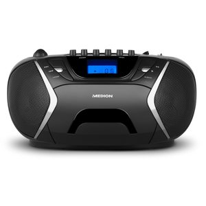 MEDION LIFE® E65073, Stereo Sound System, Top-Loading CD / MP3-Wiedergabe, AUX-Eingang, 2 x 10 Watt, Kassettendeck, Tuner