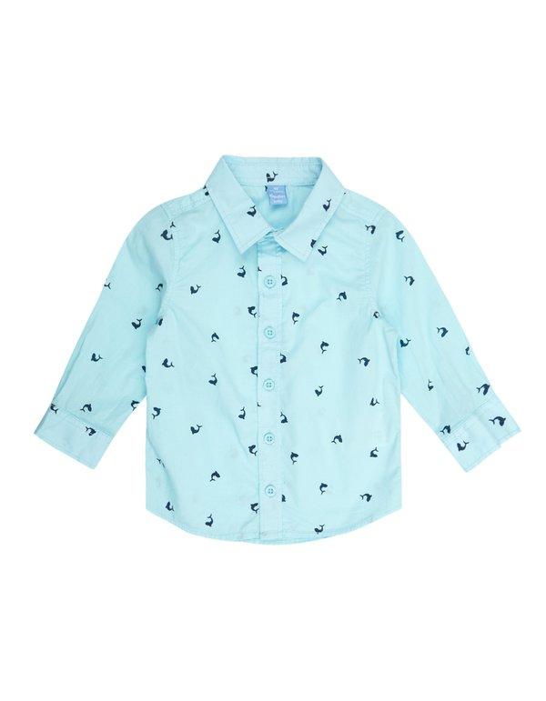 Dauerhafter Service Schuhe für billige klassische Passform Baby Hemd mit Delfin-Print