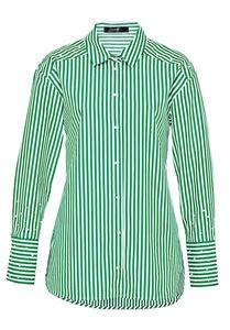 HALLHUBER Lange Hemdbluse mit Perlenverzierungen, grün, 38