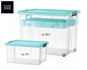 EASY HOME®  Maxi-Stapelboxen-Set, 4-tlg.