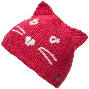 Topfmütze mit Stickerei , Katze Gr. 51-53 Mädchen Kleinkinder