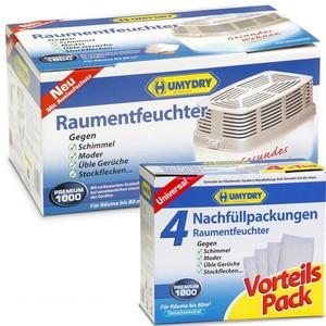 Humydry Luft- und Raumentfeuchter Premium 1000 inkl. 4 Nachfüllpackungen