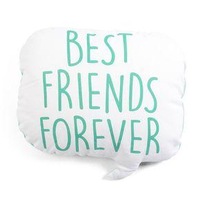 Kissen BEST FRIENDS, B:42cm x L:45cm, türkis